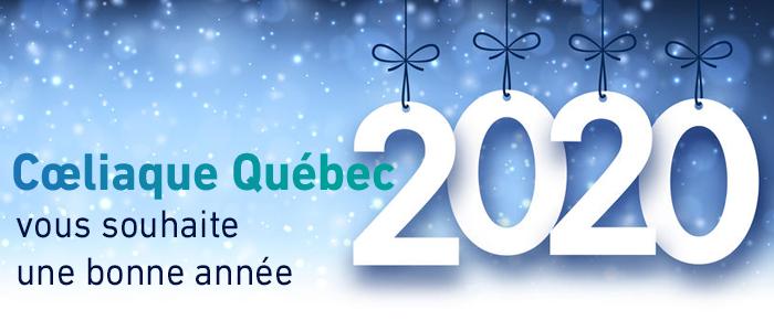 Coeliaque Québec vous souhaite une bonne année !