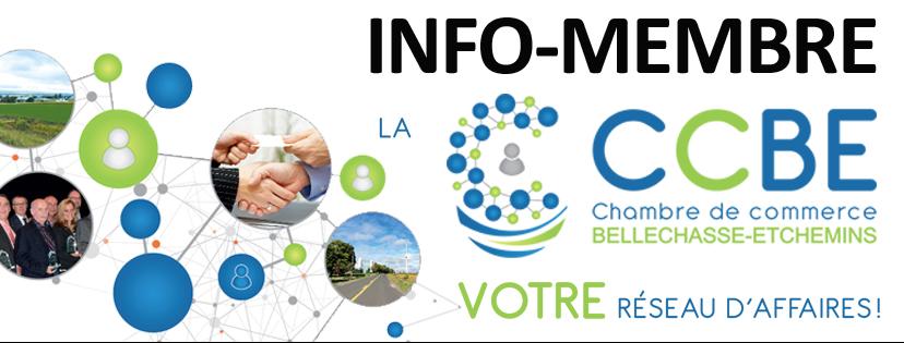 INFO-MEMBRE - CHAMBRE DE COMMERCE BELLECHASSE-ETCHEMINS